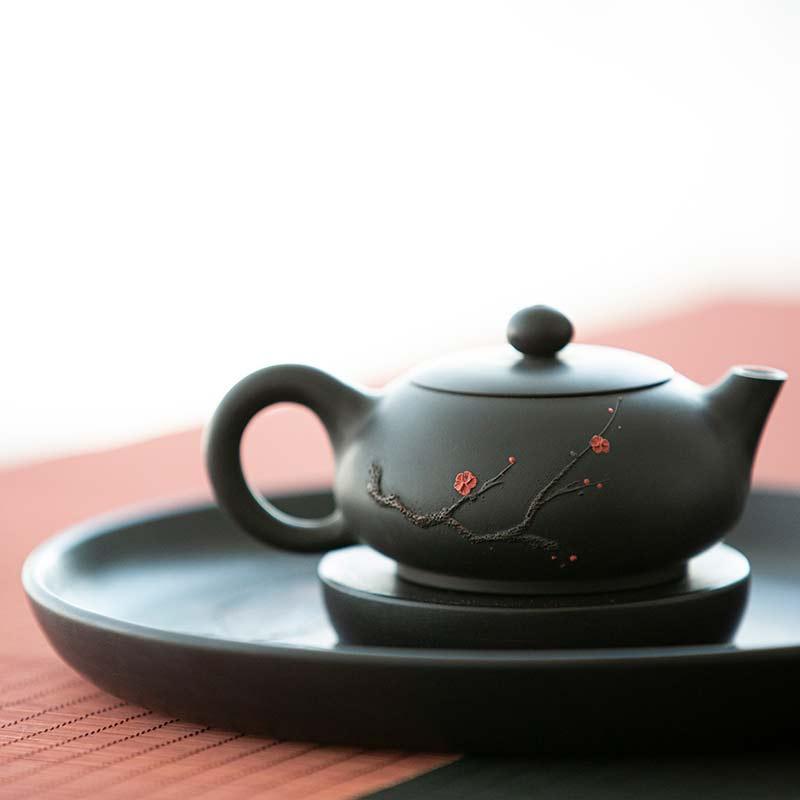 Plum Beauty Xishi Jianshui Zitao Purple Clay Tea Pot
