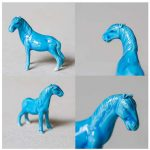 Antique Blue Horse Teapets