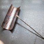 Dimpled Copper/Bronze Cha Ze Tea Holder and Tea Needle