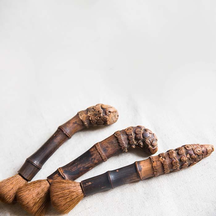 bamboo pot brush