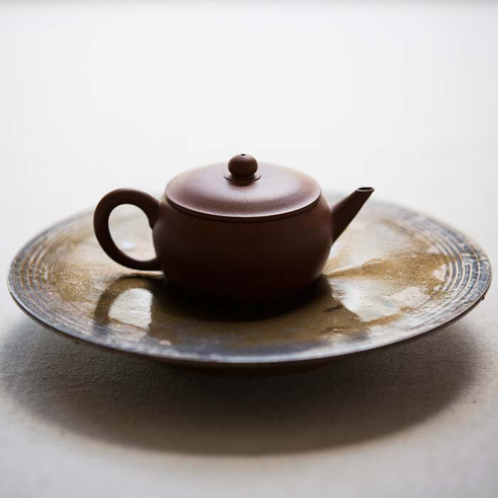 Chaozhou Da Hong Pao Clay Drum Teapot