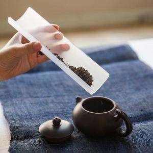 glass cha ze tea scoop