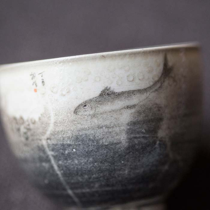 Bubbles Artist Series Wood Fired Teacup