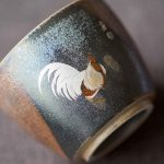 Rooster Artist Series Wood Fired Teacup