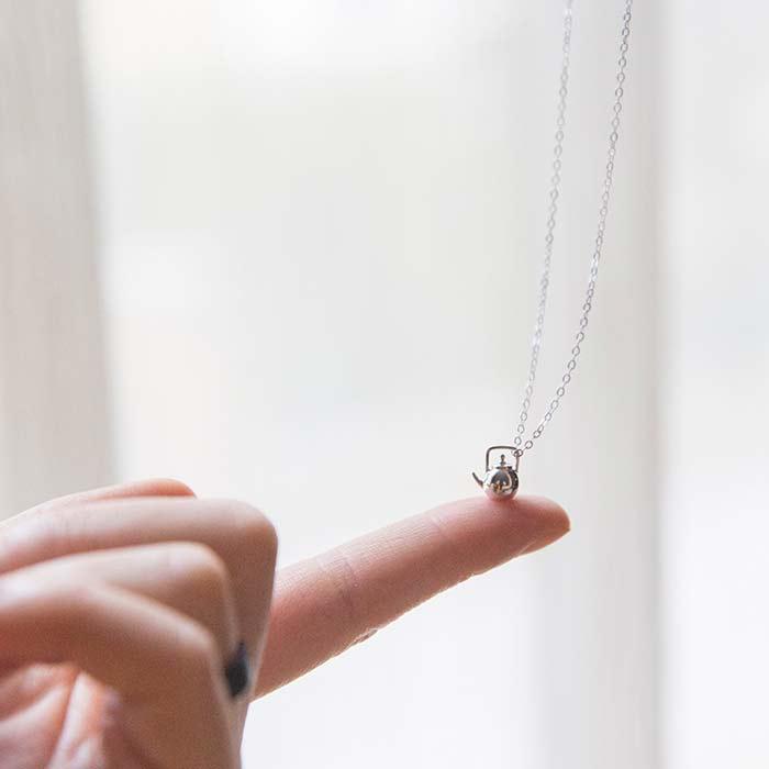 .925 Silver Teapot Necklace