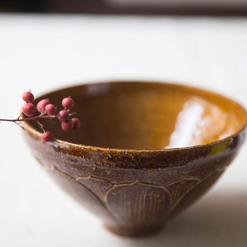 Distant Dynasty Song Style Lotus Bowl