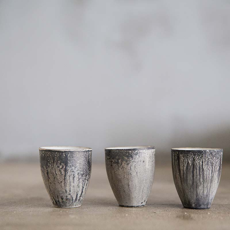 Stability Teacup (Black & Silver)