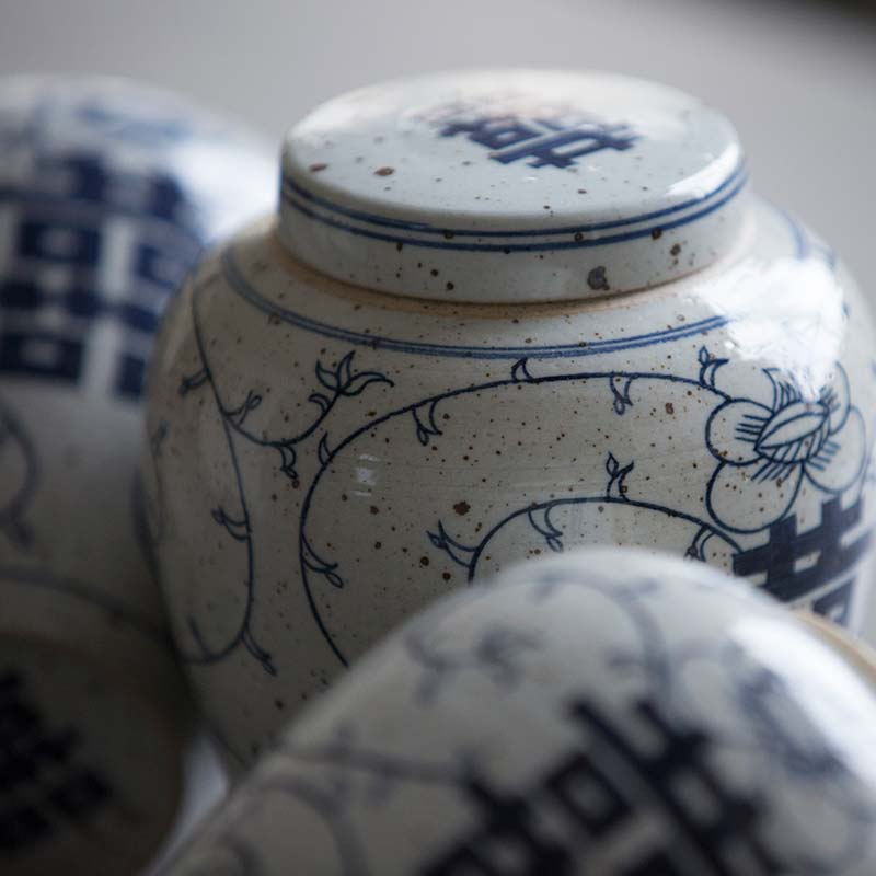 Double Happiness Tea Jar (喜 Jar)