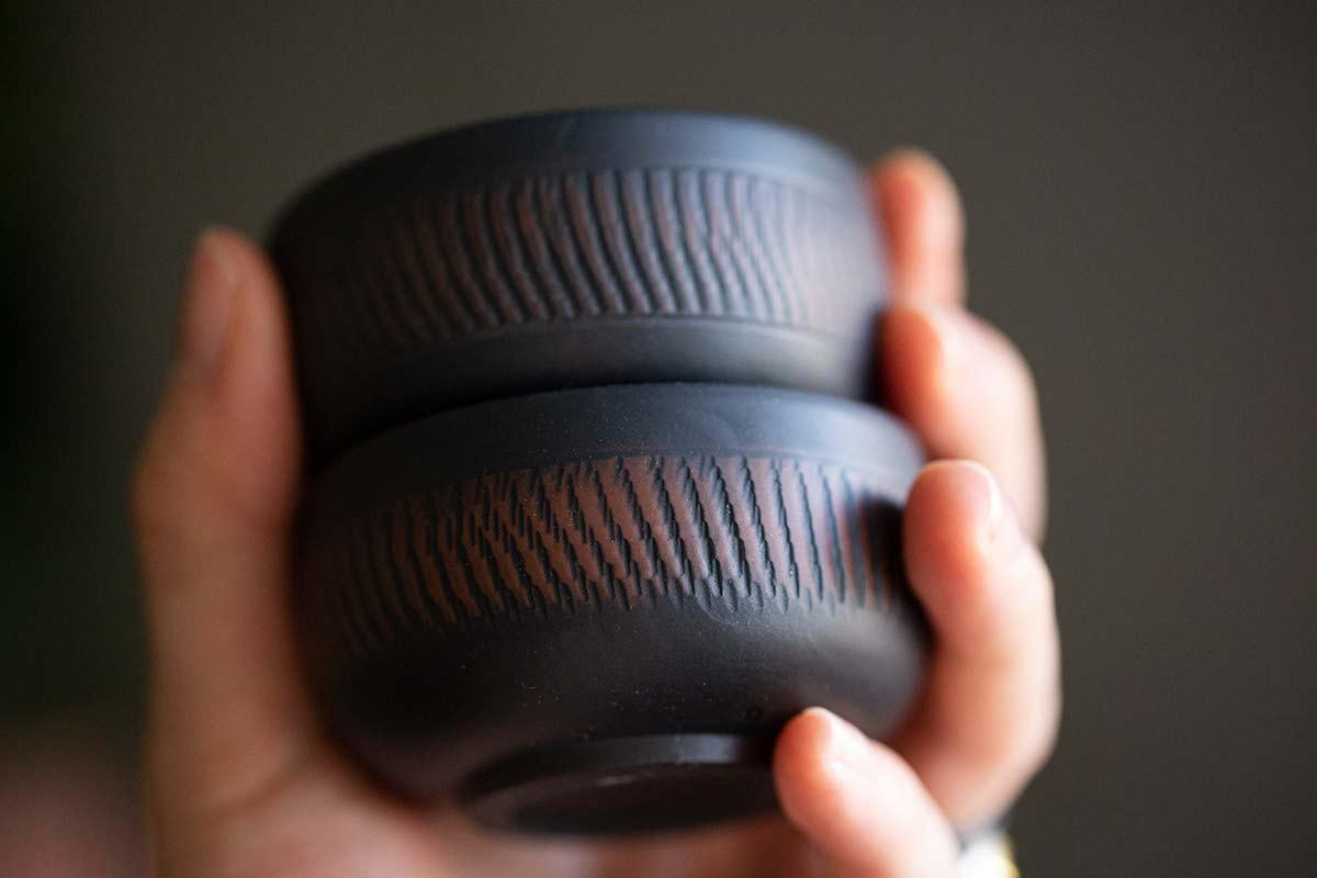 Pebble Jianshui Zitao Purple Clay Teacups