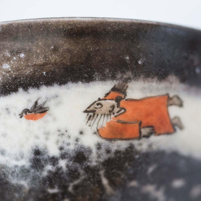 Shifu & Friends Handpainted Shino Glaze Teacups