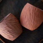 Red Sculpted Jianshui Zitao Purple Clay Teacup