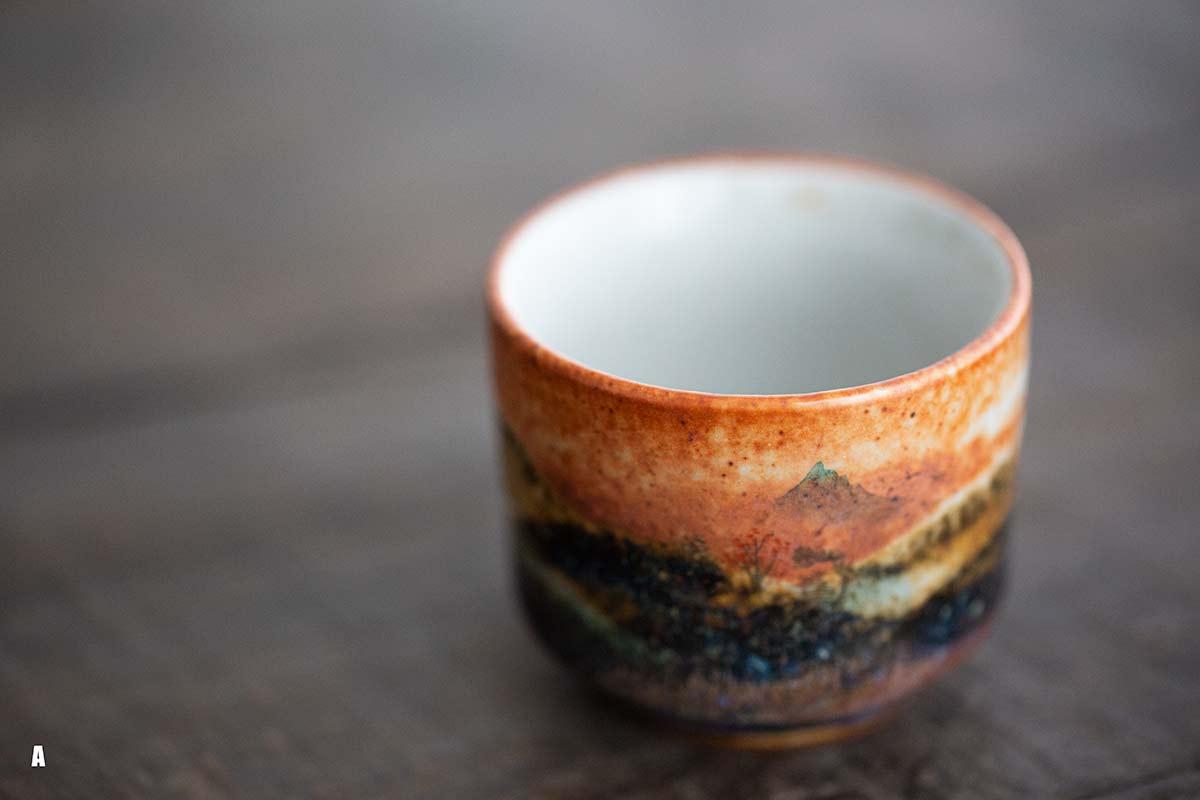 Serene Handpainted Shino Glaze Teacups