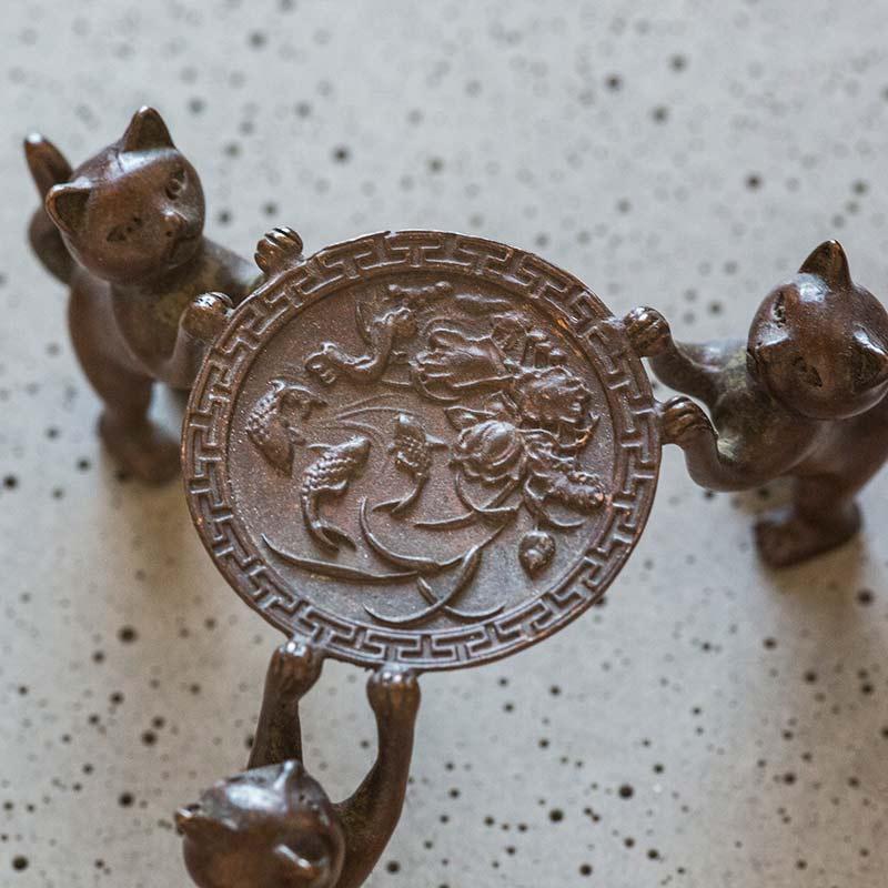 3 Meowsketeers/Dog Copper Lid Holder