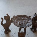 3 Meowsketeers/Dog Copper Lid Holder