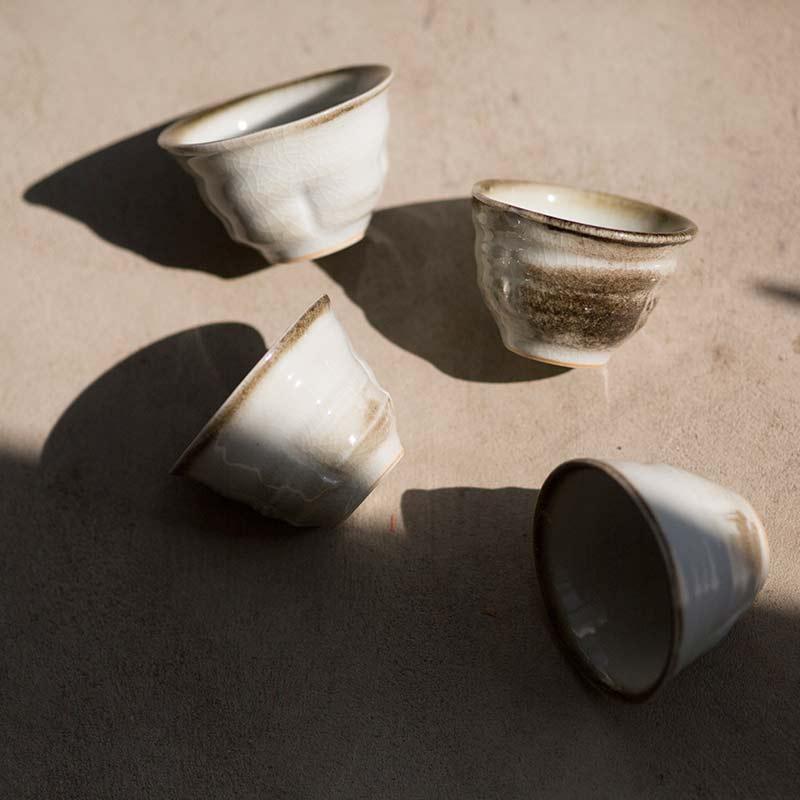 Light & Shadow Shino Glaze Teacups