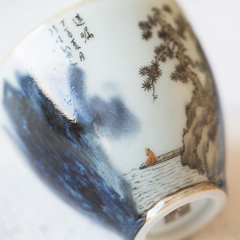 Mountain Blues Artist Series Wood Fired Teacup