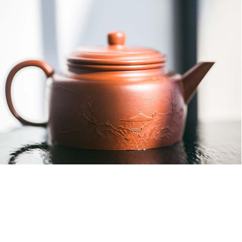 Idyll Yixing Zisha Clay Jianliu Dezhong Teapot