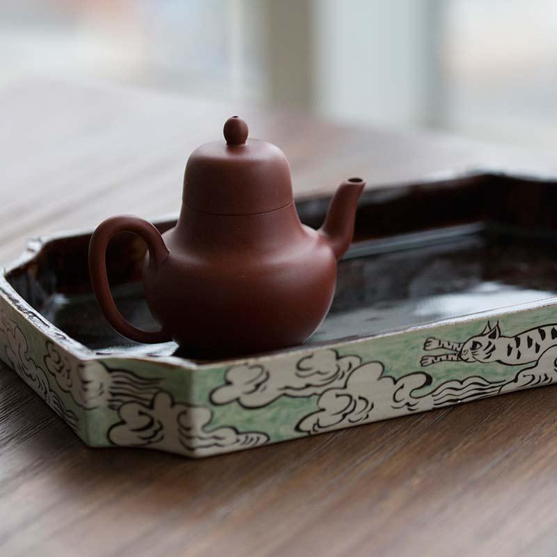 Flying Cat Tea Tray