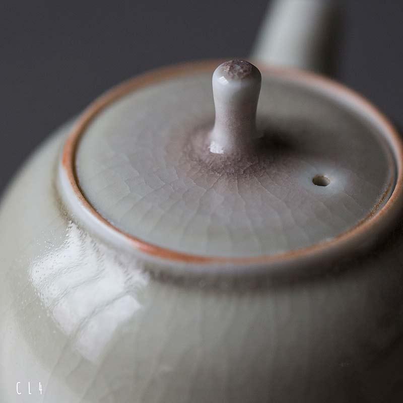 Cocoa Left Handed Kyusu Teapot