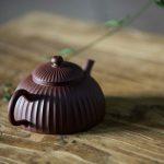 Half Moon Sculpted Yixing Zini Teapot