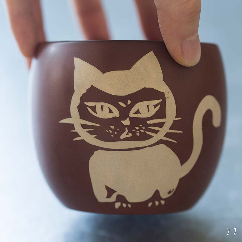 Tea Meowster Jianshui Zitao Purple Clay Cat Teacup