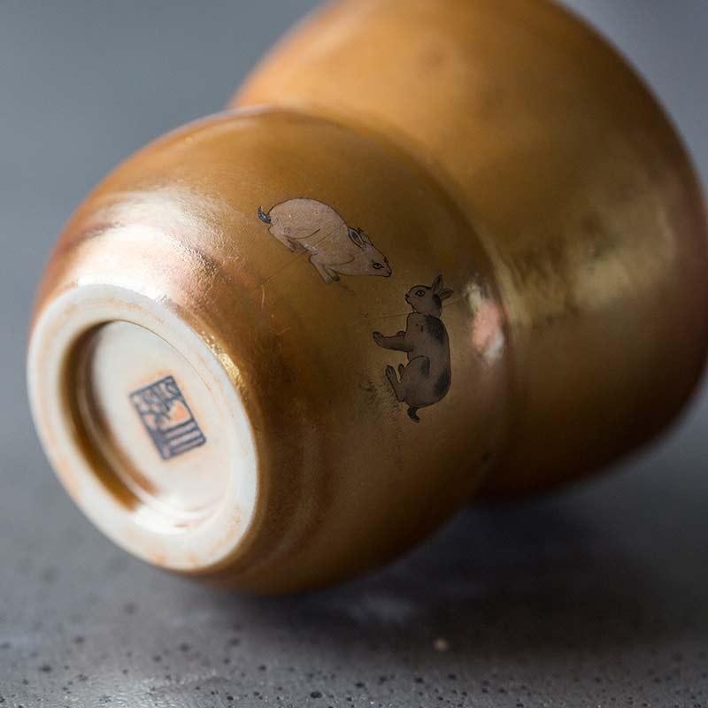 Hare Pair Artist Series Wood Fired Teacup