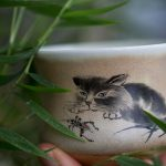 Hunter Handpainted Cat Teacups