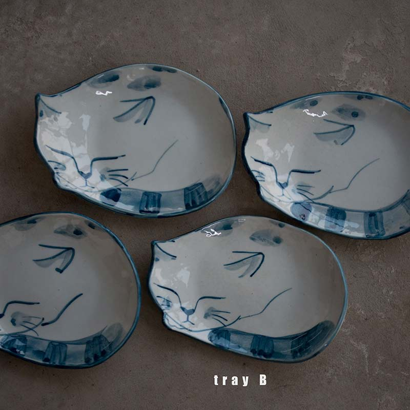 Cat Nap Tea Tray & Coasters