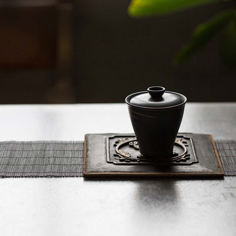 Silver Lining Jianshui Zitao Purple Clay Gaiwan