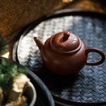 Bamboo Shade Zhuni Yixing Zisha Clay Shuiping Teapot