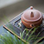 Broad Sculpted Yixing Qingshuini Teapot