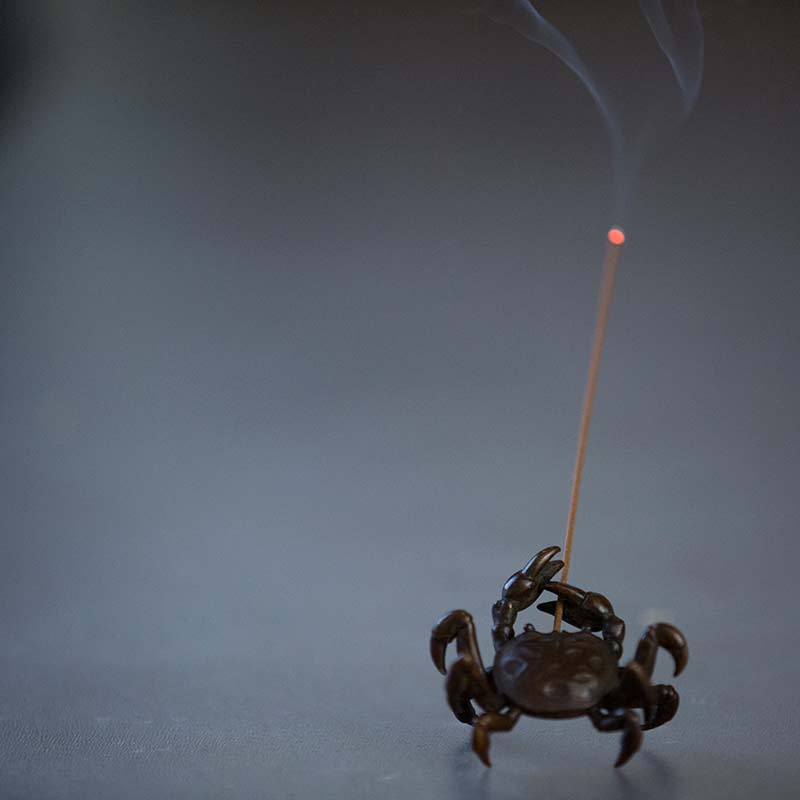 Turtle, Fox & Crab Copper Tea Pet/Incense Holder