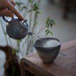 Midnight Wood Fired Teapot A