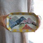 Mountain of Colour Tea Tray