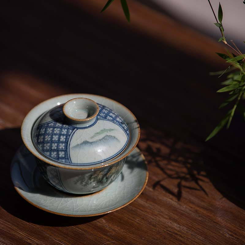 Placid Qinghua Gaiwan