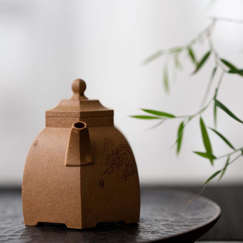 Liujiao Huangjin Duanni Teapot