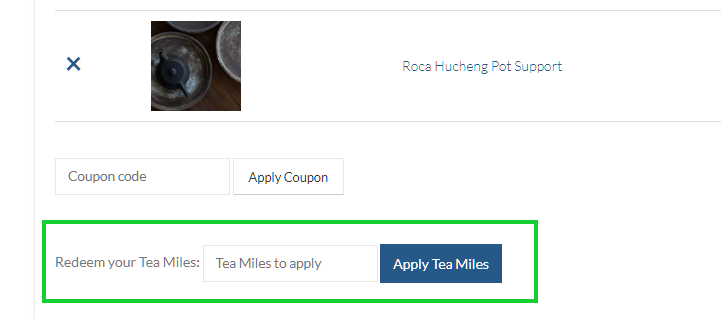 Redeeming Your Tea Miles & Checking Your Balance