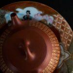24k Gold Xinjing Engraved Yixing Da Hong Pao Clay Shipiao Teapot