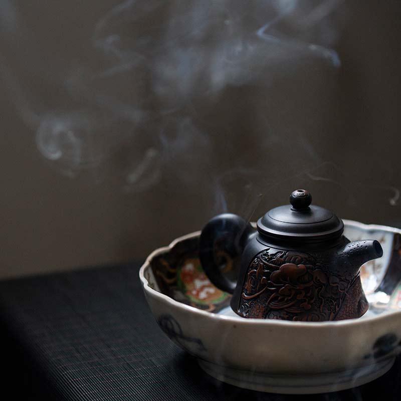 Dragon Jianshui Zitao Purple Clay Teapot