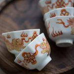 Old Time Handpainted Teacups