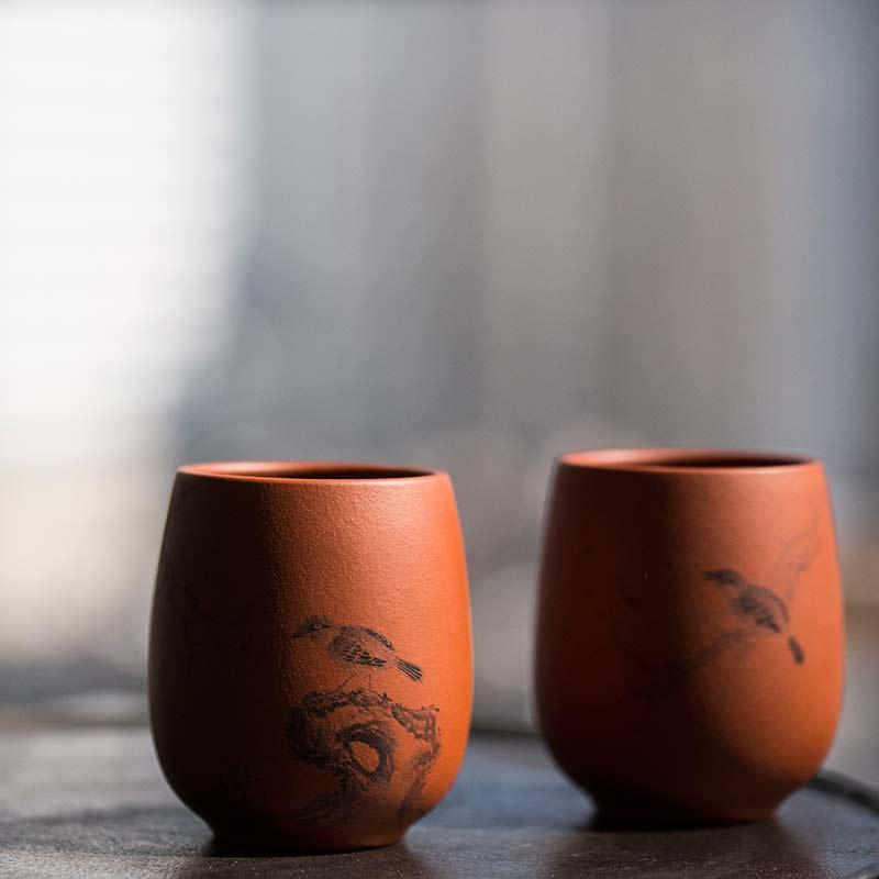 Sanctuary II Handpainted Yixing Zisha Teacup