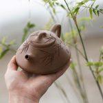 Bamboo Yixing Duanni Clay Shipiao Teapot