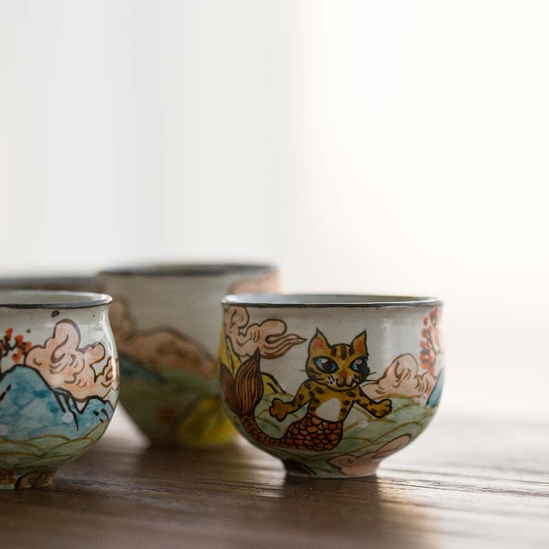 Mercat Hand Painted Teacup