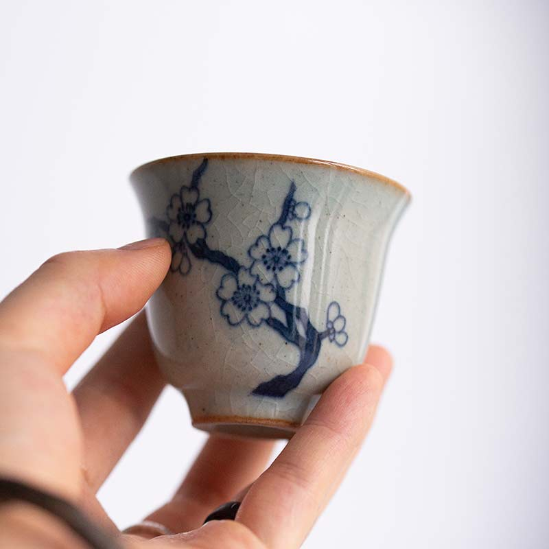 Summer Breeze Qinghua Teacups