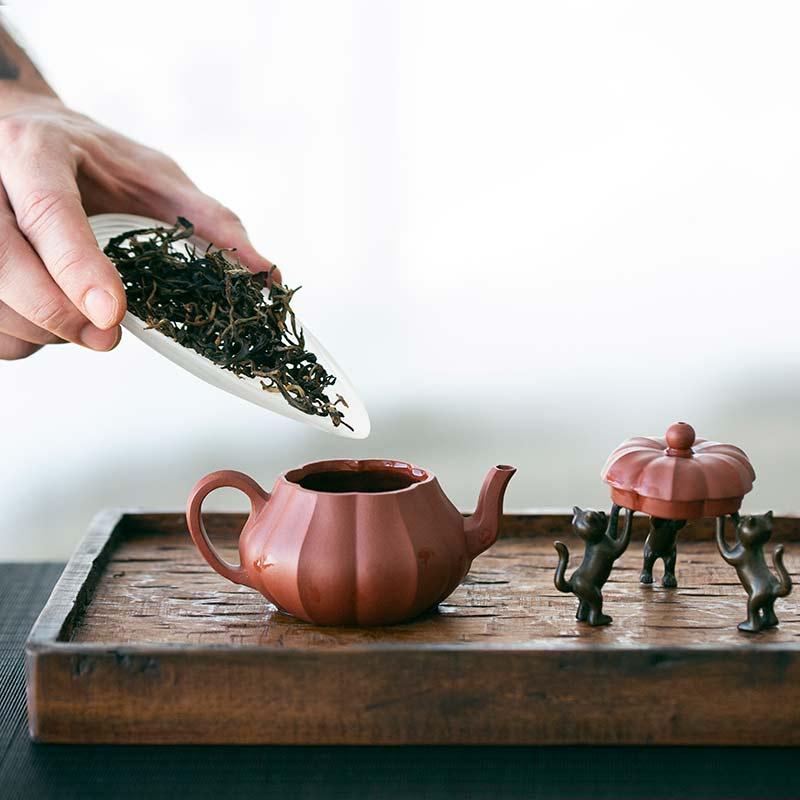 Wave Glass Cha Ze Tea Scoop