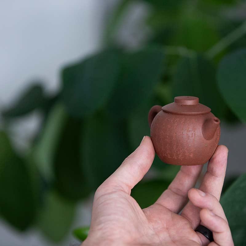 Fanggu Style Julunzhu Yixing Zini Clay Teapot