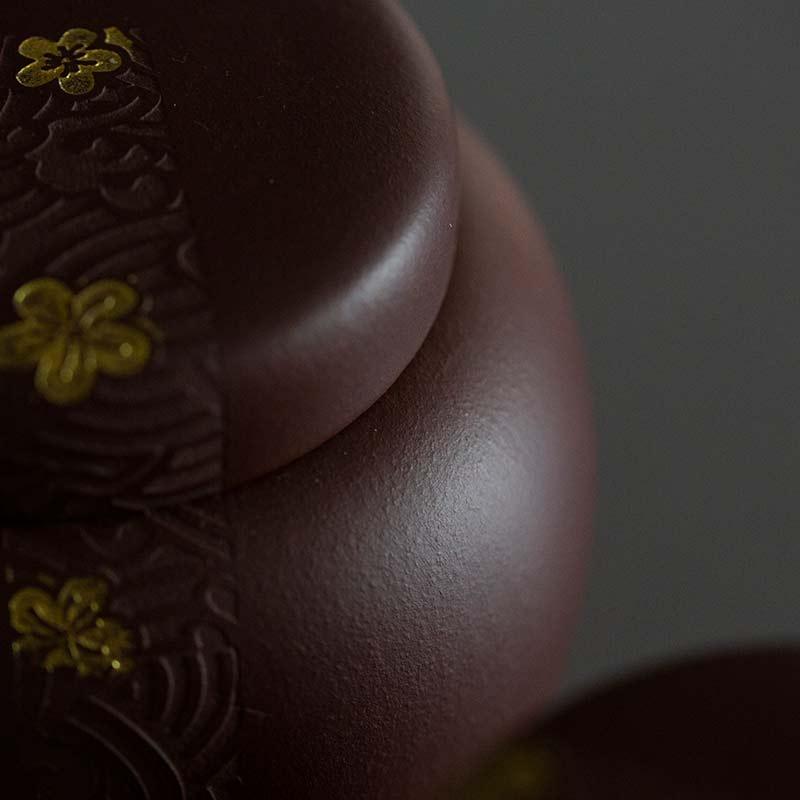Golden Bloom Yixing Zisha Tea Jar