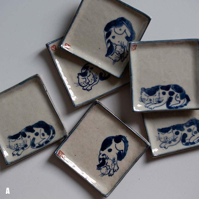 Qinghua Cat Coaster