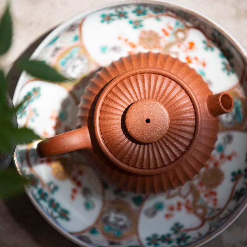 Turret Sculpted Yixing Qingshuini Teapot