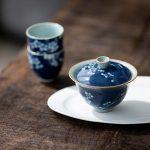 Blue Plum Qinghua Gaiwan